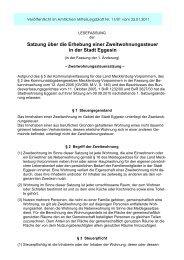 Satzung über die Erhebung einer ... - Stadt Eggesin
