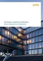 Brochure Technique et gestion du bâtiment PDF - Alpiq