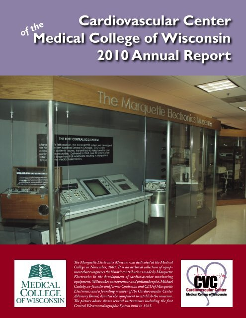 2010 CVC Annual Report - Medical College of Wisconsin