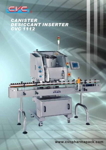 canister desiccant inserter cvc 1112 introduction unparalled features