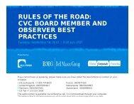Characteristics of Outstanding CVC Board Members - DLA Piper