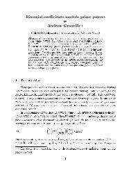 Arithmetic Properties of Binomial Coefficients I