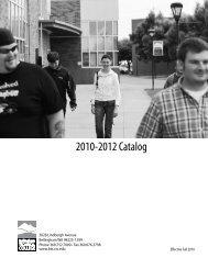 2010-2012 BTC Catalog - Bellingham Technical College - Ctc.edu