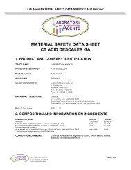 material safety data sheet ct acid descaler ga - Lab Agents