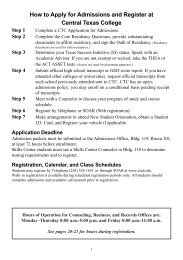Schedule Bulletin - Central Texas College