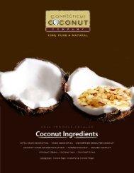 2012 Product Catalog - Connecticut Coconut Company
