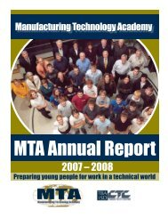 Manufacturing Technology Academy - Career-Tech Center