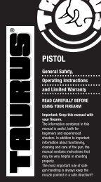Taurus Pistol Manual