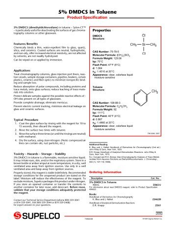 Product dating information statement sigma