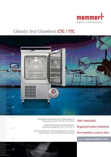 Memmert Climatic Test Chambers CTC / TTC
