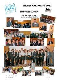 Wiener HAK-Award 2011 IMPRESSIONEN - Schulen des bfi Wien