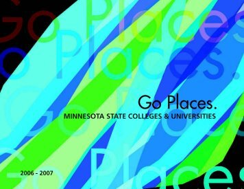 Go Places. - Minnesota State Colleges and Universities