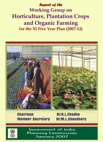 Horticulture, Plantation Crops and Organic Farming - of Planning ...