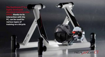 The RealAxiom CT is a highly developed electronic training roller ...