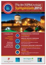 Download the Symposium Delegate Brochure - 9th TOPRA Annual ...