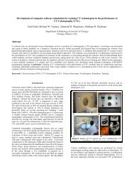 Development of computer software simulation for training CT ...