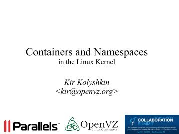 Containers and Namespaces - Linux Foundation Events