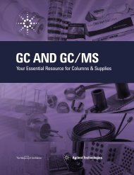 GC and GC/MS supplies - Agilent Technologies