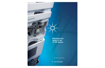 Maintaining Your Agilent LC and LC/MS Systems - Postnova Analytics