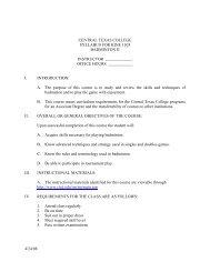 central texas college syllabus for kine 1103 badminton