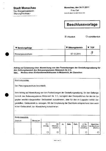 Beschlussvorlage 3 - Stadt Monschau
