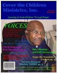 Women of Purpose - Cover the Children Ministries, Inc.