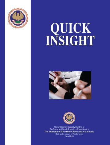 Quick Insights from ICAI - Corporate Law Reporter