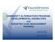 EPSDT (cont) - ValueOptions