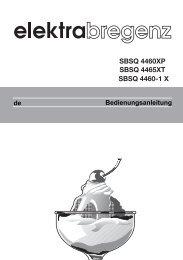 Bedienungsanleitung - Elektra Bregenz