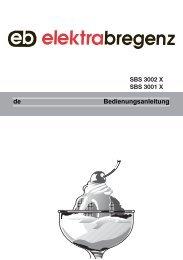 Bedienungsanleitung de - Elektra Bregenz