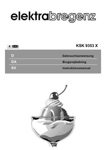 SV Instruktionsmanual - Elektra Bregenz