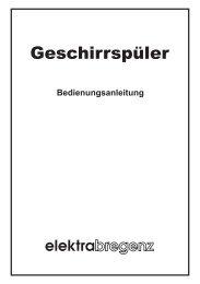 Geschirrspüler - Elektra Bregenz