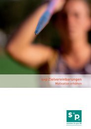 s+p Zielvereinbarungen - EFK