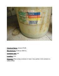Chemical Name: Actane 97A/B Manufacturer: Enthone OMI Inc ...