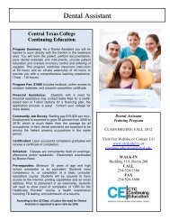 Dental Assistant - Central Texas College