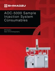 AOC-5000 Sample Injection System Consumables