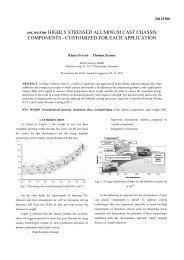 SAE Technical Paper Template - KSM Castings