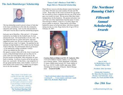 Scholarships - Northeast Running Club