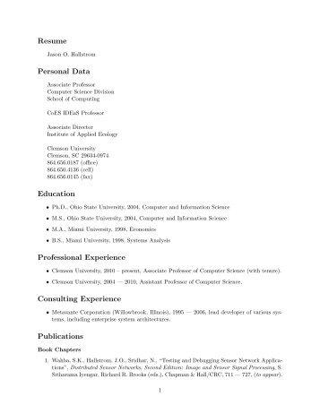 Resume Of Markus Loffler Markus Loffler System Und