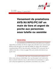 Versement de prestations AVS/AI/APG/PC/AF en mains de tiers - AHV