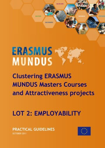 Clustering ERASMUS MUNDUS Masters Courses - EACEA - Europa