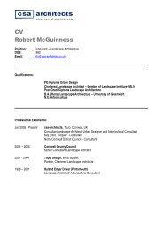 CV - Rob McGuinness - csa architects