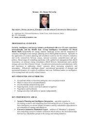 Dr Shaun Mcarthy CV - University of Dundee
