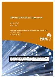CVC Transitional Pricing Credit Letter (TTAS) - NBN Co