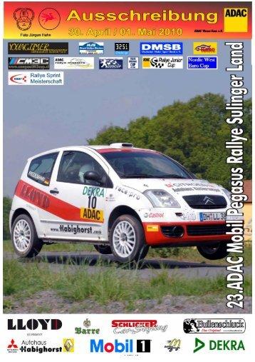 Korte beschrijving Rally Sprint 2010 Sulingen - YOUNGTIMER Trophy