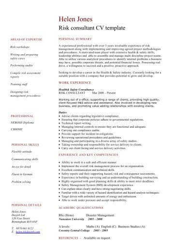 Security guard cv template dayjob risk consultant cv template dayjob pronofoot35fo Gallery