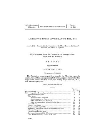 PDF version - The U.S. House of Representatives Committee On ...