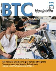 BTC Spring Quarterly Schedule - Bellingham Technical College ...