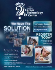 Fall Catalog - Cape Girardeau Career And Technology Center