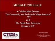 Middle College - West Virginia Department of Education